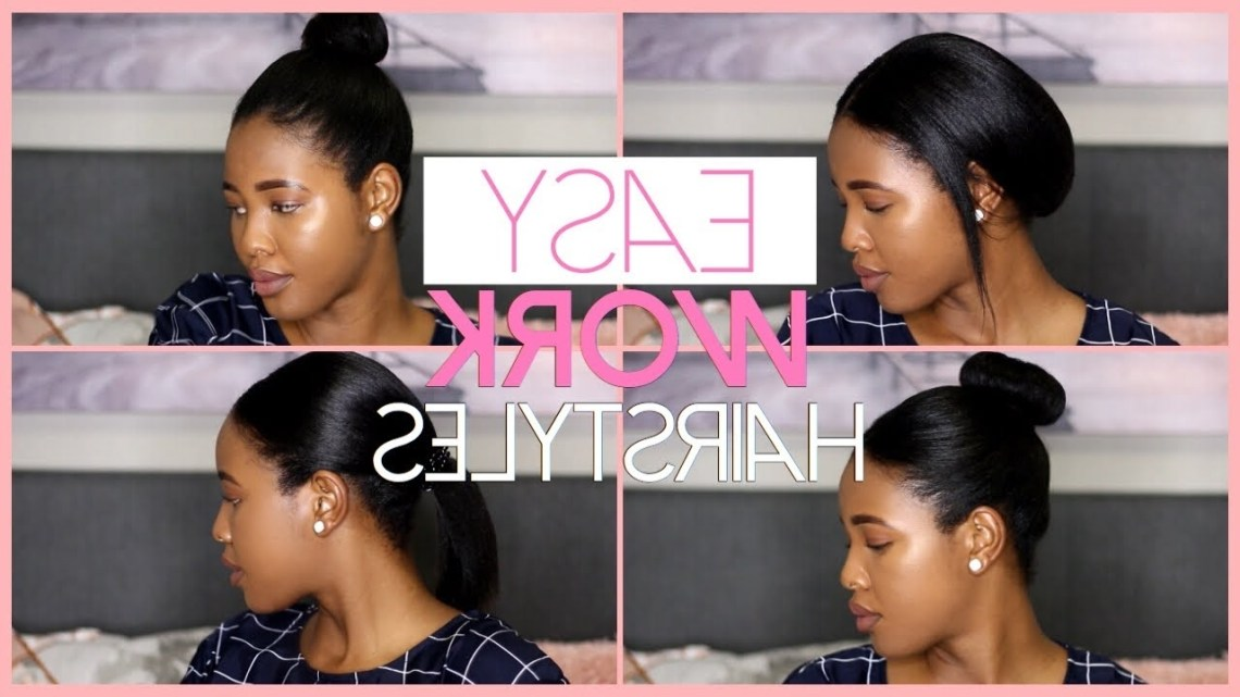 5 Easy Work Hairstyles For Medium Relaxed Hair |Working Woman 40+ Stylish Medium Length Relaxed Hairstyles