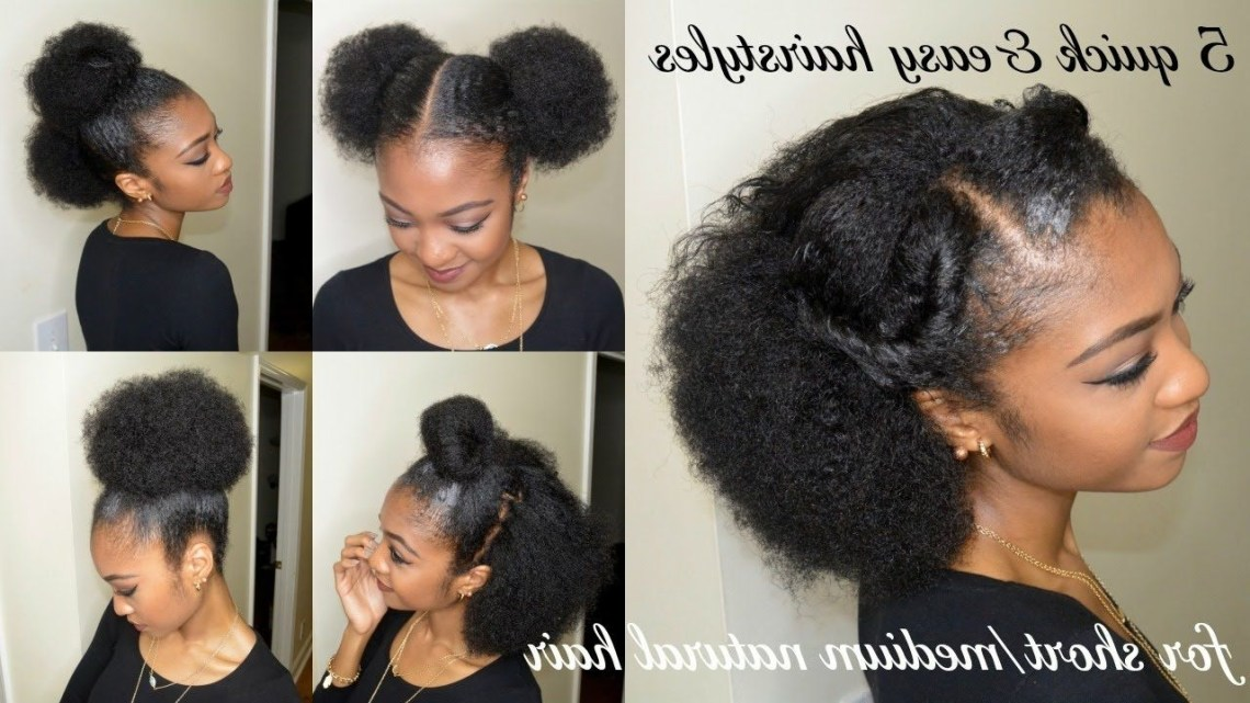 5 Quick & Easy Hairstyles For Short/Medium Natural Hair Hairstyles For Medium Length Natural African American Hair