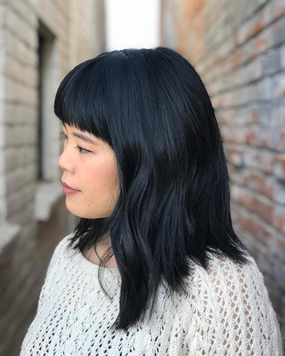 53 Medium Hairstyles With Bangs: Our Latest Faves! | Medium 10+ Stunning Medium Black Hairstyles With Bangs