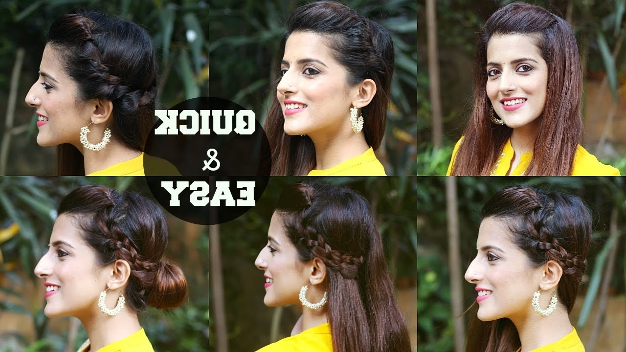 6 Quick & Easy Indian Hairstyles For Medium To Long Hair / Perfect Side Hair Poof No Teasing 10+ Stunning Medium Hairstyles For Indian Hair