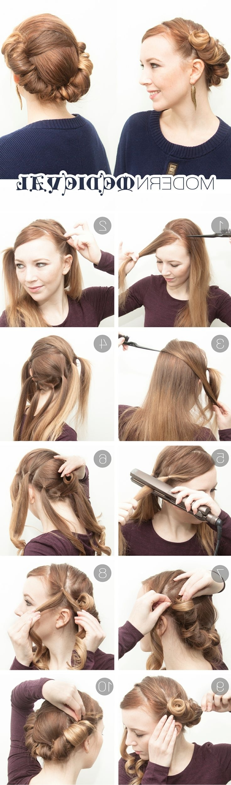 9 Genius Hairstyles You Can Do With A Flat Iron – Sheknows Hairstyles For Medium Hair With Straightener
