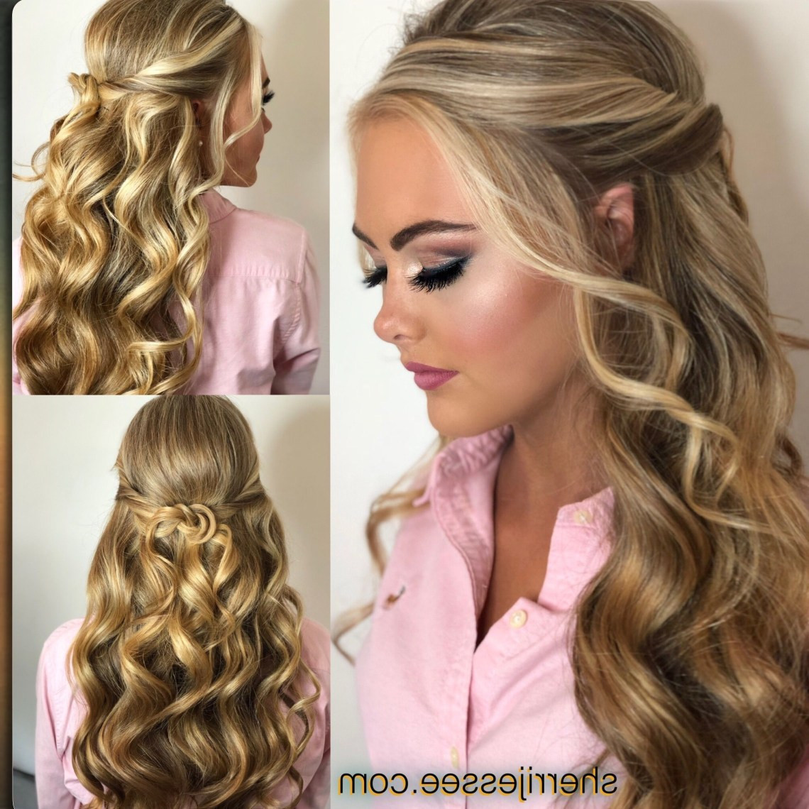 Beautiful Half Up Prom Or Pageant Hair | Prom Hair Down 20+ Stylish Beautiful Prom Hairstyles For Medium Length Hair
