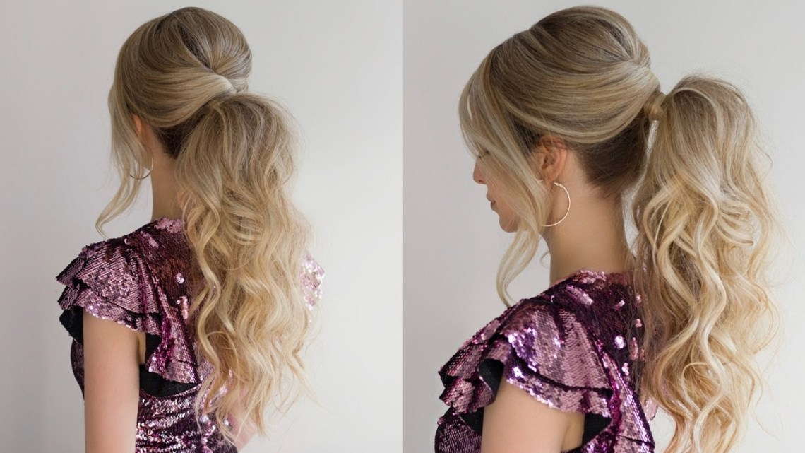 How To: Curly Ponytail ✨ New Years Eve Hairstyle New Years Eve Hairstyles For Medium Length Hair