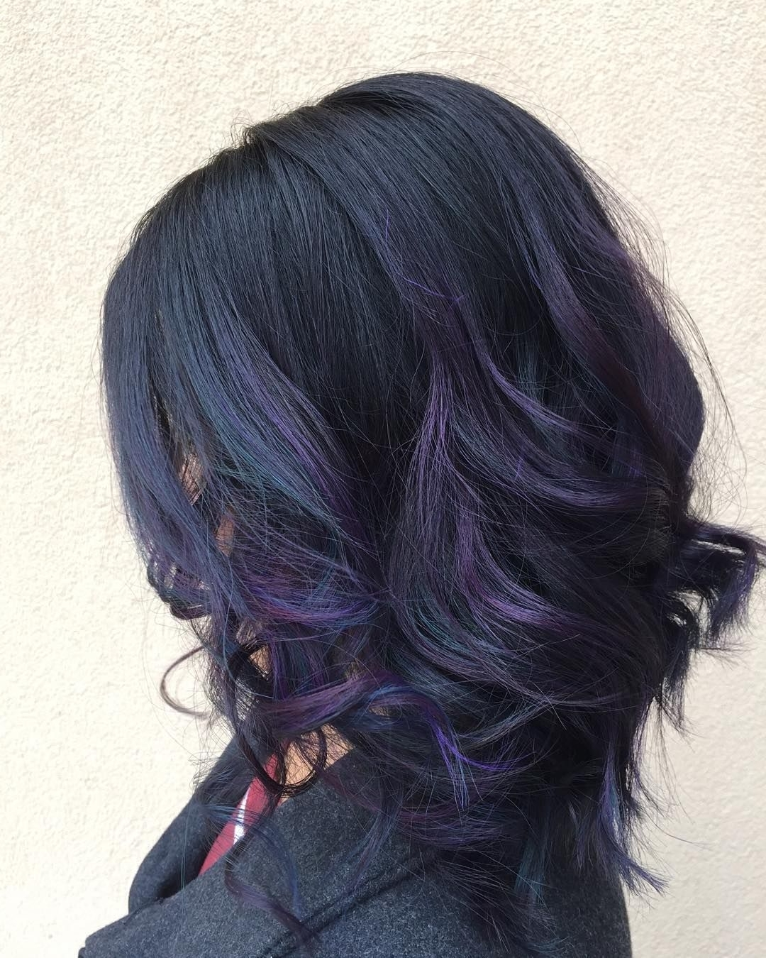 """Nadine Eberts On Instagram: """"Another Oil Slick! Thanks For Purple Hairstyles For Medium Hair"""