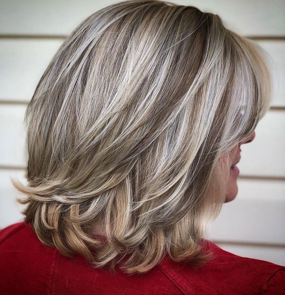 Platinum Balayage Bob With Flicked Ends | Hair Styles 20+ Stylish Medium Length Blonde Hairstyles For Over 50