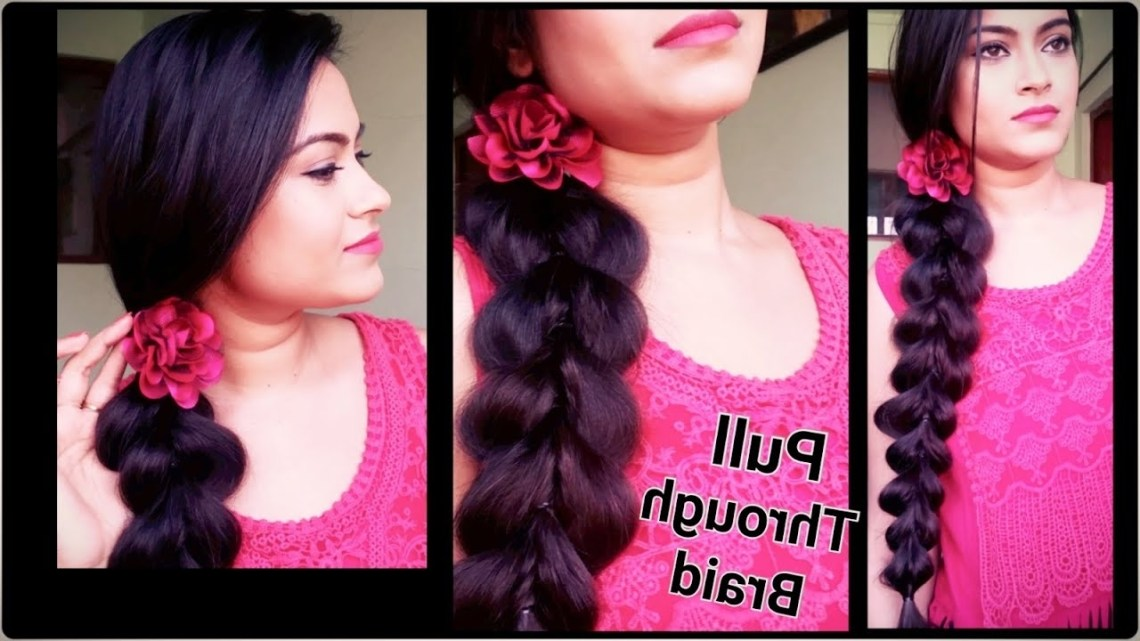 Pull Through Braid//Hairstyles For Medium/Long Hair//Everyday Indian Hairstyles For Office/College Indian Office Hairstyles For Medium Hair