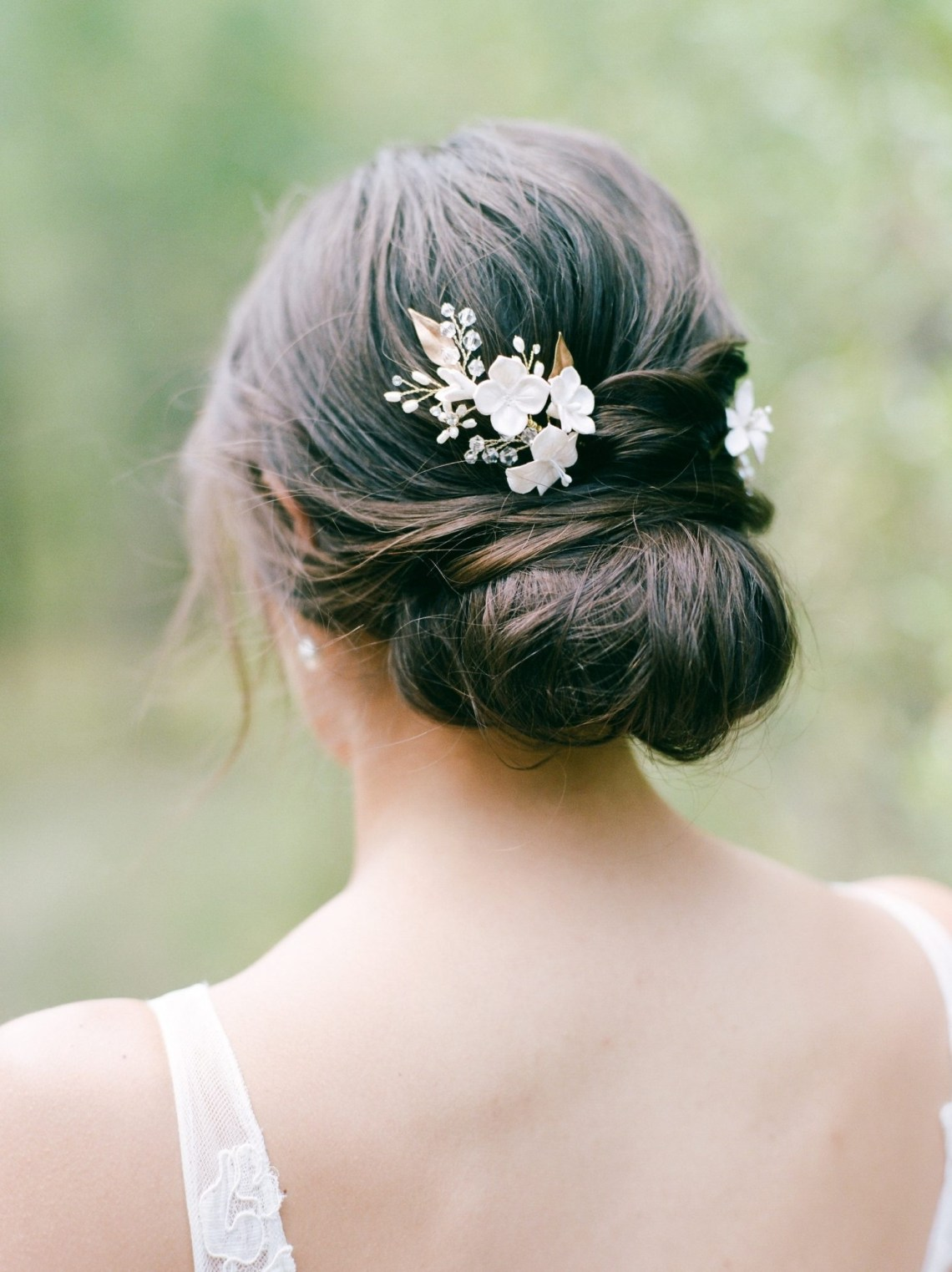 Simple Wedding Hairstyles That Prove Less Is More | Martha Easy Wedding Hairstyles For Medium Hair