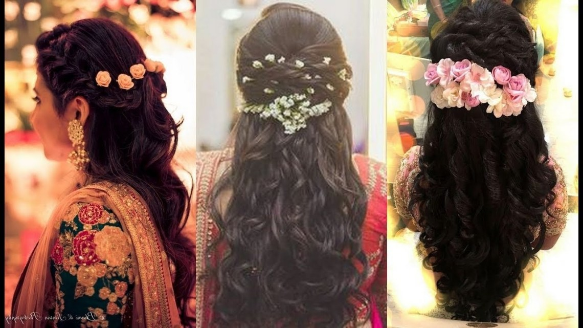 South Indian Bridal Hairstyles For Reception/North Indian Bridal Hairstyle 10+ Awesome South Indian Wedding Hairstyles For Medium Hair