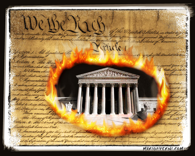 Image result for image of constitution being burned