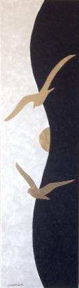 cm.28x100 - acrylic and gold leaf on canvas