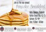 Request: To design an appealing flyer for the Center's annual pancake breakfast where anyone from students to the Chancellor are invited to attend.