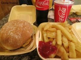 Chicken Burger meal from Bishops Restaurants