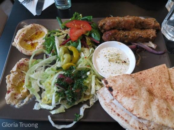 Kofta plate from Falafel