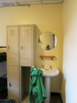 Storage lockers with sink