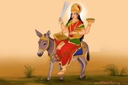 Shitala devi seated on her donkey