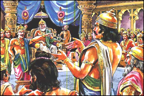 a picture of the gambling game scene in the palace