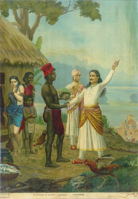 Devavrata takes a vow in front of the fisherman and his family