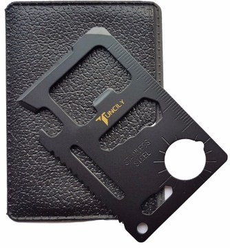 For some reason, guys are crazy about multi-tools. This one is cool because it fits in your wallet.