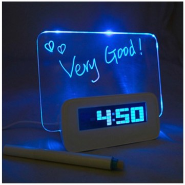 This is a useful gift. Who wouldn't want the option to leave themselves an LED message for the morning?