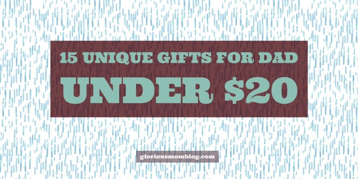 15 unique gifts for Dad under $20: if you're looking for a gift for your dad (or your husband) on the cheap this Father's Day or for a birthday or anniversary, check out my list at gloriousmomblog.com.