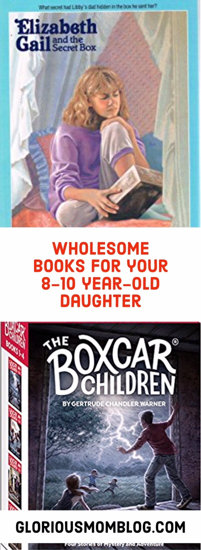 Wholesome books for your 8-10 year-old girl: check out book recommendations for your little girl that are age-appropriate! See my list of recommendations at gloriousmomblog.com including the American Girl book series.