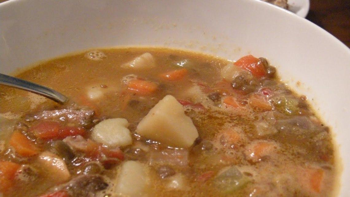 Paul's Apple, Lamb and Lentil Soup