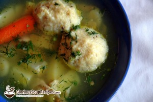 Passover Soup with Chicken Dumplings