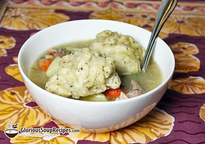 How To Make Hearty Turkey Soup with Parsley Dumplings
