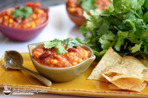 Busy Night Turkey Taco Soup with Avocado Cream Recipe