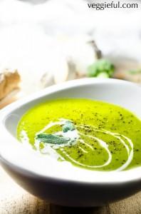 Coconut Cream Broccoli and Barley Soup recipe