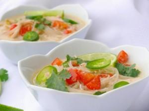 Thai chicken cabbage soup recipe