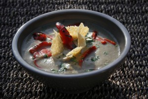 Rich and Creamy Roasted Eggplant Soup Recipe