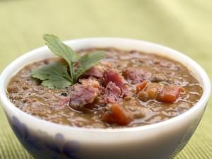 Slow Cooker Lentil and Ham Soup Recipe
