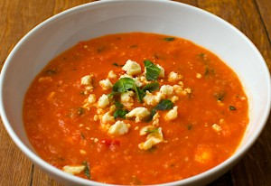 How To Make Red Pepper Soup with Feta Cheese