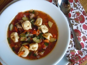 Image courtesy: Italian Sausage Soup with Tortellini