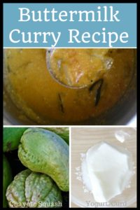 Buttermilk squash curry recipe to soothe your stomach the tasty way with chayote squash and buttermilk!