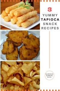 Tapioca snacks three ways. Tapioca or kuchi kelangu snack recipes