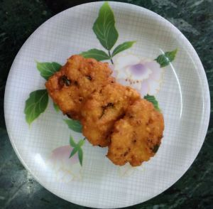 Tapioca fritters/kelangu vada recipe