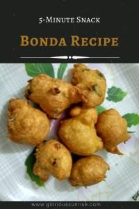 How to make bonda - 5-minute bonda recipe - evening snacks for a rainy day