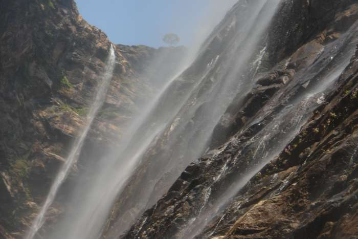 View from bottom of Jog falls