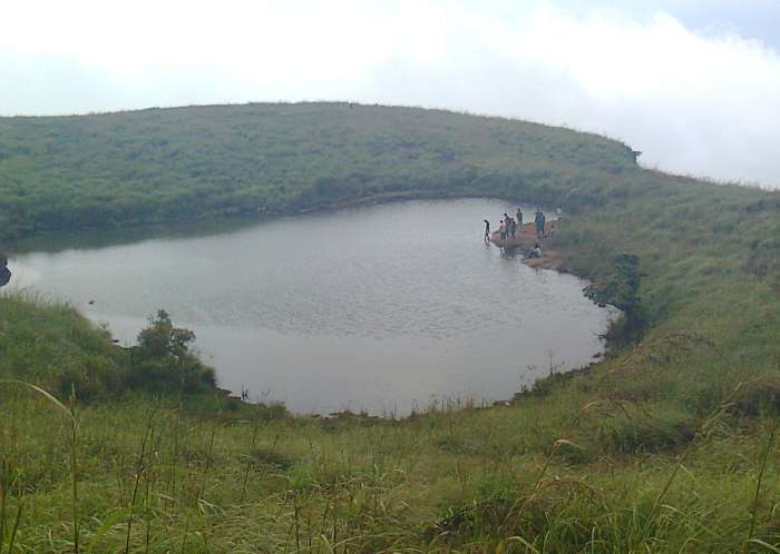 Chembra peak wayanad Heart shaped lake