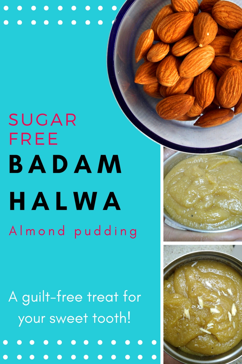 Sugar free badam halwa recipe. Sugar free recipe for almond pudding