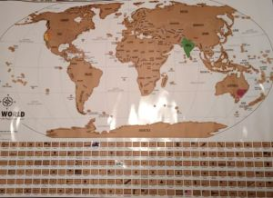 Travel tracker map scratch off map from Landmass goods
