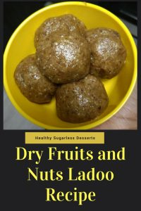 4-ingredient instant dry fruits and nuts ladoo (balls) recipe: Try this sugarless healthy dessert that literally takes only 2 minutes to make.