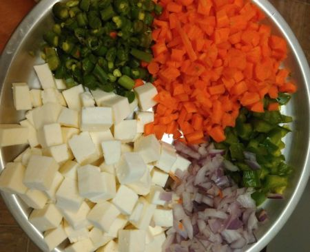 paneer fried rice recipe ingrecients