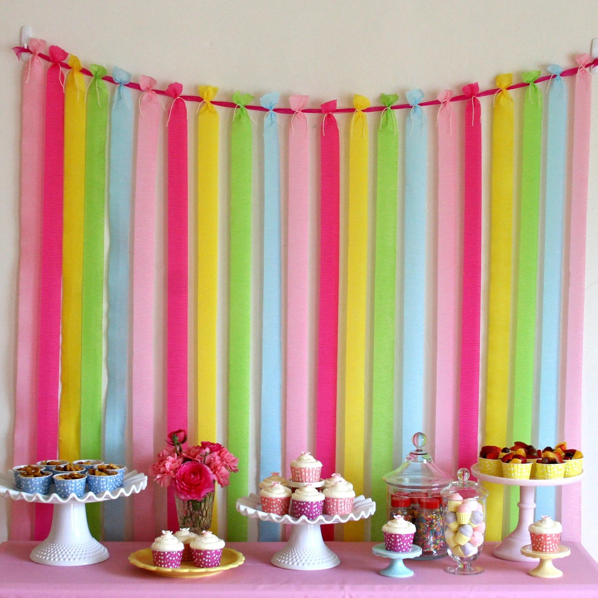 Pretty Party Backdrop  Glorious Treats