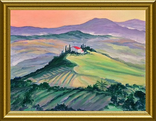 Tuscan Retreat - Acrylic Painting