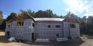 School construction at Chestnut Mountain Ranch. Supplied photo.