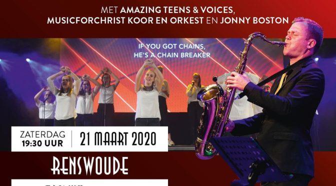 'In Christ Connected' met Amazing Teens & Voices, Music for Christ koor/orkest en Jonny Boston