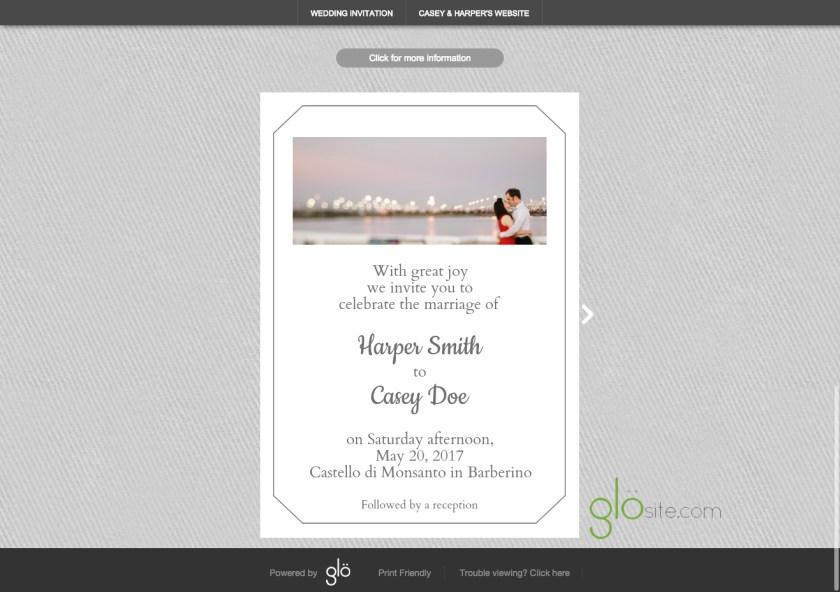 Glosite Email Wedding Invitation Background Pattern Copy